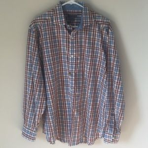 Johnston and Murphy tailored fit button down